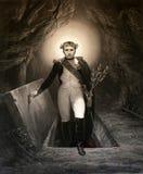 Napoleon Rising kommt aus das Grab heraus Stockbild