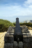 Napoleon`s cannon in old Jaffa . Israel. Royalty Free Stock Photo