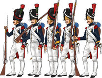 Napoleon's Grenadiers Stock Photo