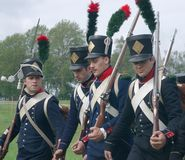 Napoleon's soldiers Royalty Free Stock Photos