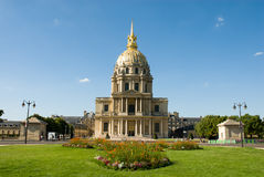Napoleon's tomb at Les Invalides. Les Invalides is a complex of museums and tomb in Paris, the military history museum of France, and the tomb of Napoleon Stock Photo