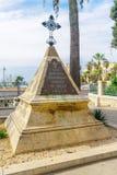 Napoleon Soldiers Monument Stella Maris, Haifa arkivfoto