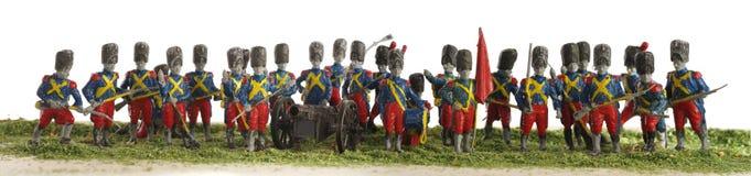 Napoleon soldiers toy plastic panorama Stock Photo