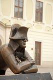 Napoleon statue. Napoleon bronze statue on Hlavne namestie (Main Square) in Bratislava, capital city of Slovak republic Royalty Free Stock Images