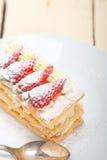 Napoleon strawberry cake dessert Stock Image