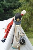 Napoleonic army kit on tent Royalty Free Stock Photos