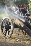 Napoleonic artillery in action Stock Photos