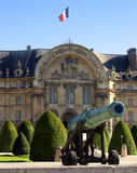 Napoleonic artillery gun in front of Les Invalides Stock Image