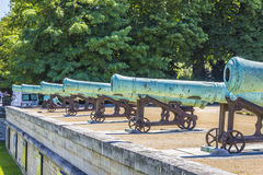 Napoleonic artillery gun near Les Invalides, Paris Stock Photo