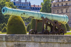 Napoleonic artillery gun near Les Invalides, Paris Royalty Free Stock Images