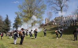 Napoleonic battle commemoration Stock Image