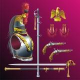 Napoleonic cuirassiers bewapening. royalty-vrije illustratie