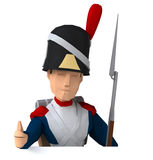 Napoleonic grenadier Royalty Free Stock Image