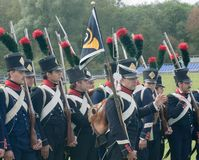 Napoleonic infantry Royalty Free Stock Images