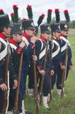 Napoleonic infantry in the ranks Royalty Free Stock Photography