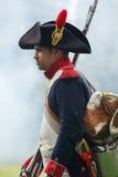 Napoleonic soldat arkivfoton