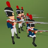 Napoleonic soldier Royalty Free Stock Photography