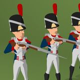 Napoleonic soldier Stock Images