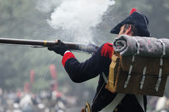 Napoleonic soldier Royalty Free Stock Photo
