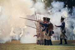 Napoleonic War Reenactment Stock Image