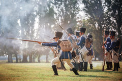 Napoleonic War Reenactment Stock Photography