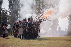 Napoleonic War Reenactment Royalty Free Stock Photos