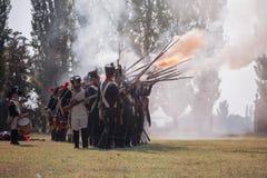 Napoleonic War Reenactment Royalty Free Stock Photos