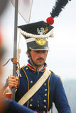 Napoleonic war soldier - reenactor  Royalty Free Stock Photos