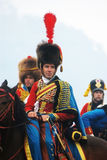 Napoleonic war soldiers - reenactors Stock Photo