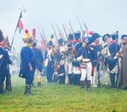 Napoleonic war soldiers - reenactors Stock Photo