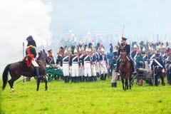 Napoleonic war soldiers - reenactors Royalty Free Stock Images