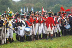 Napoleonic war soldiers - reenactors Royalty Free Stock Photography