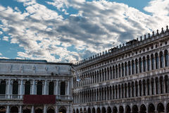 Napoleonic Wing and Procuratie Vecchie's arcades in Saint Mark's Royalty Free Stock Photos