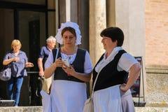 Napoleonica事件的人们 在magnific的被打扮的表示法 免版税库存图片