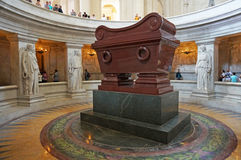 Napoleons Casket i Paris Arkivfoto