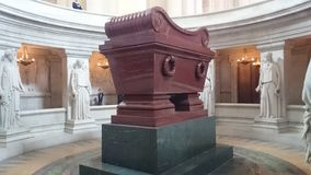 Grave of Napoleon Bonaparte at Les Invalides in Paris, France. royalty free stock images