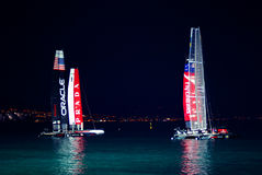 Napoli America's Cup 2012 at night Royalty Free Stock Photos