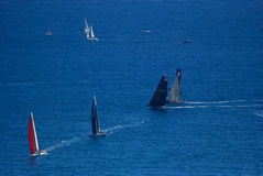Napoli America's Cup 2012 from Vomero hill Royalty Free Stock Photo