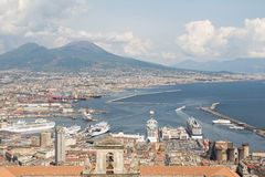Napoli bird view Royalty Free Stock Photos