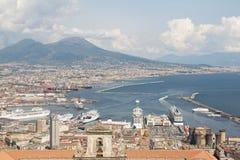 Napoli bird view Stock Photos