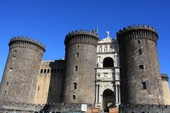 Napoli: Castel Nuovo in Italy Royalty Free Stock Photography