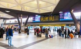 Napoli Centrale railway station. Stock Image