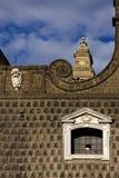 Napoli chiesa del gesu nuovo and the sky Royalty Free Stock Photos