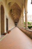 NAPOLI - Chiostro di Santa Chiara (Santa Chiara Museum Complex) Arkivfoton