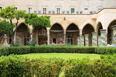 NAPOLI - Chiostro di Santa Chiara (The Santa Chiara Museum Complex) Royalty Free Stock Photos