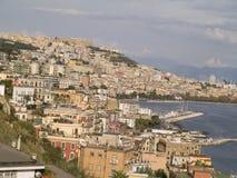 Napoli, città storica ha individuato il sud dell'Italia Immagini Stock Libere da Diritti