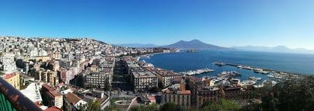 Napoli, costiera amalfitana, sorrento, panorama. View of the city on the sea stock photo