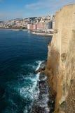 Napoli dal ovo del dell del castel, Italia Fotografia Stock Libera da Diritti