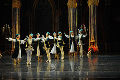 Napoli dance-The prince adult ceremony-ballet Swan Lake Royalty Free Stock Photo