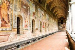NAPOLI - Di Santa Chiara de Chiostro (Santa Chiara Museum Complex) imagens de stock royalty free